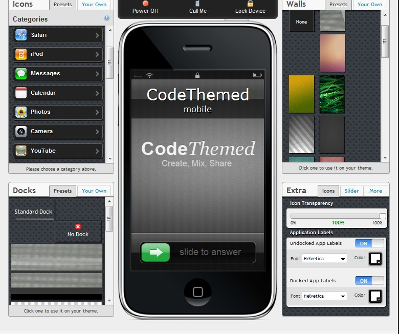 codet - Astuce :  créer son thème iPhone Cydia depuis le web