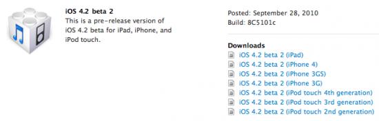 iOS42b2 - L'IOS 4.2 bêta 2 est disponible !