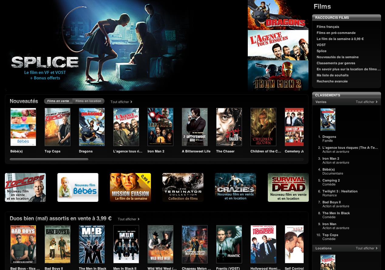Capture d%E2%80%99%C3%A9cran 2010 11 06 %C3%A0 18.57.04 - L'iTunes Movie Store désormais disponible en France
