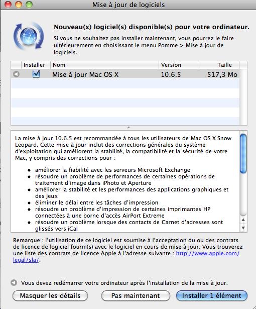 Capture d%E2%80%99%C3%A9cran 2010 11 10 %C3%A0 22.58.12 - MAC OS X se met à jour : 10.6.5