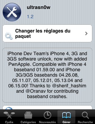Unlock iPhone 4 / Désimlock 4.3.1 disponible avec ultrasn0w