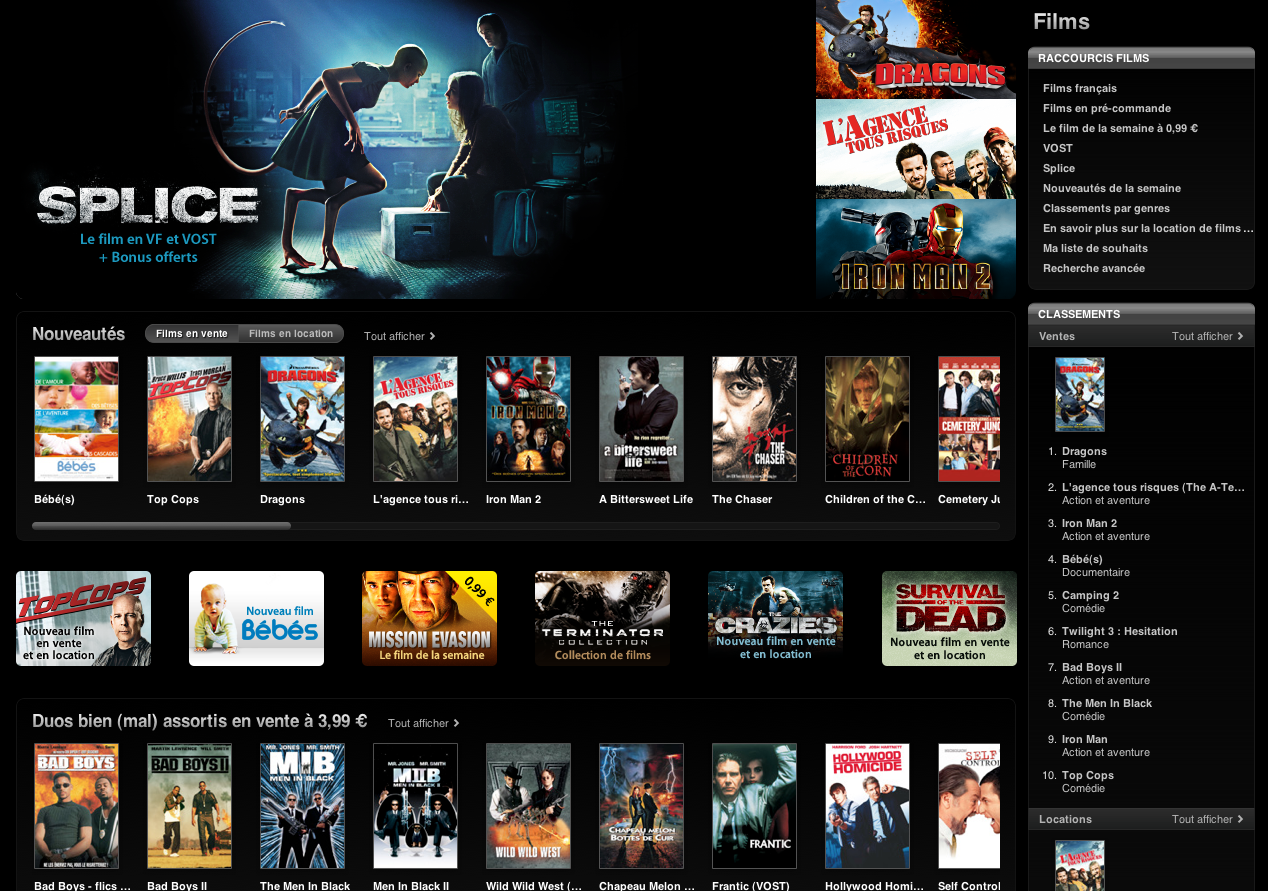 Capture d'écran 2010 11 06 à 18.57.04 - L'iTunes Movie Store désormais disponible en France