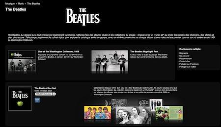 beatles itunes - Et la surprise d'Apple est... les Beatles.