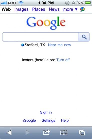 gg - La recherche instantanée de Google débarque sur l'Iphone