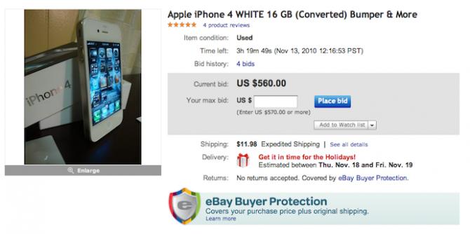 iPhone 4 : de faux modèles blancs en vente sur eBay