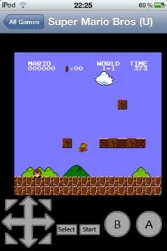 Emulateur Nintendo NES sur iPhone