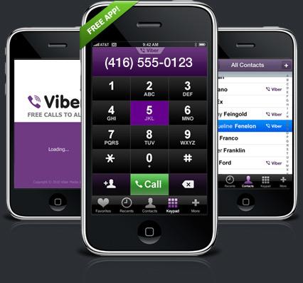 Viber : Passer des appels gratuits via 3G/WiFi
