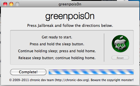 gp2 - [GreenPois0n RC6] Jailbreak iOS 4.2.1 Untethered iPhone 4, iPad et iPod Touch