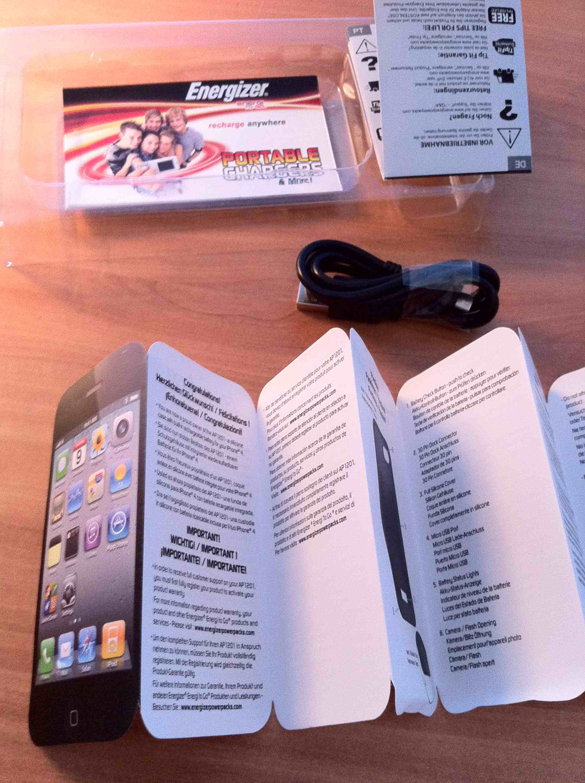 photo 24 - Test : Coque Batterie Energizer pour iPhone 4