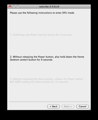 50125 500 - Tutoriel : jailbreak iOS 4.3.2 untethered avec redsn0w Mac