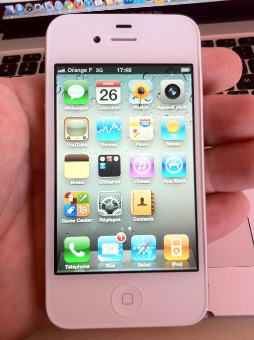 L'iPhone 4 Blanc est déjà en vente!