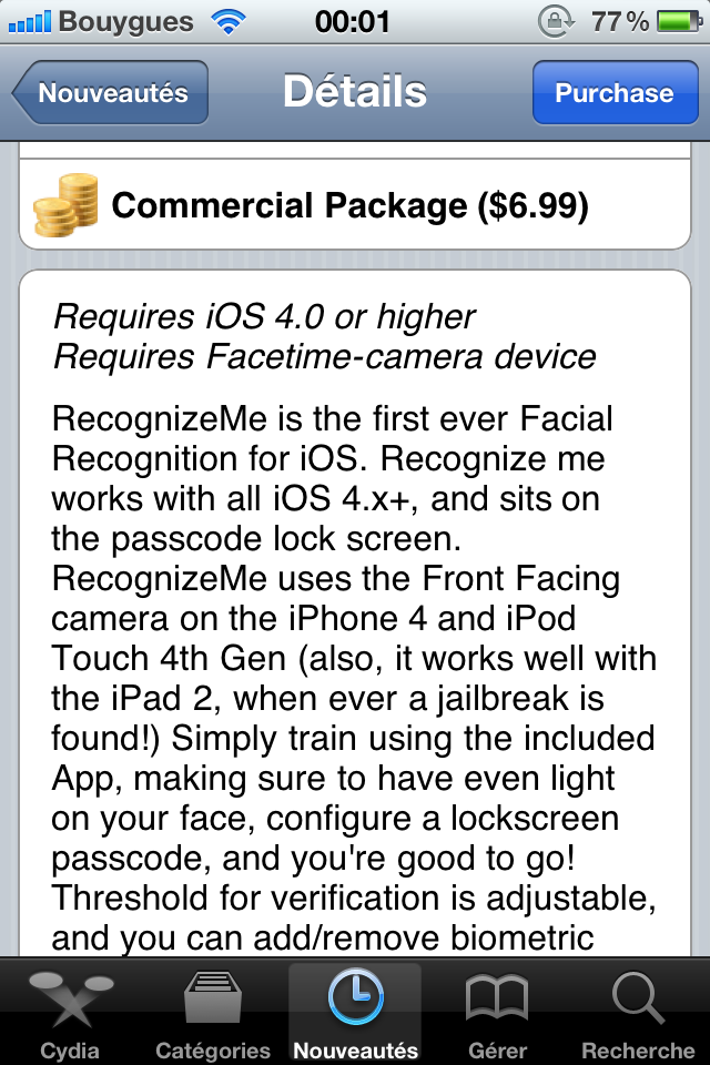 IMG 0443 - RecognizeMe enfin disponible sur Cydia !