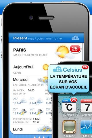 celsius iphone - Mettez un thermomètre sur votre Springboard