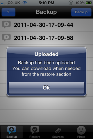 xBackup 0.4 - [Jailbreak] Ne perdez plus vos vos applications Cydia grâce à xBackup