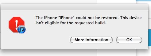 Capture écran message d'erreur (2)