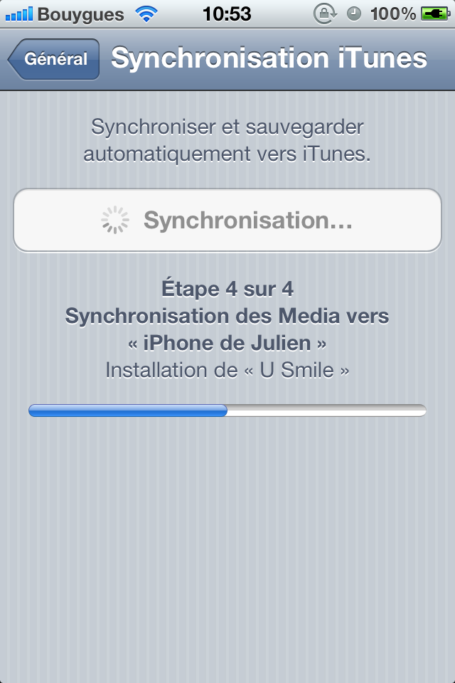 photo - iOS 5.0 : Synchronisation Wi-Fi enfin possible...