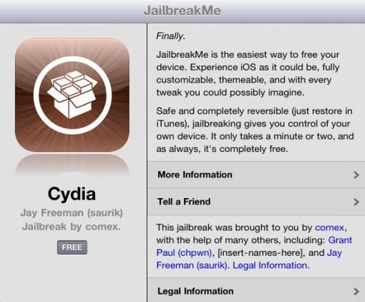 Jailbreakme.com : le jailbreak de l'iPad 2 enfin disponible !!!!!