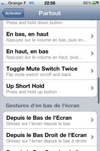 Activator : les raccourcis sur iPhone, iPad et iPod Touch