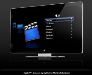 Apple TV Concept 300x243 - Apple se lance dans les télévisions !