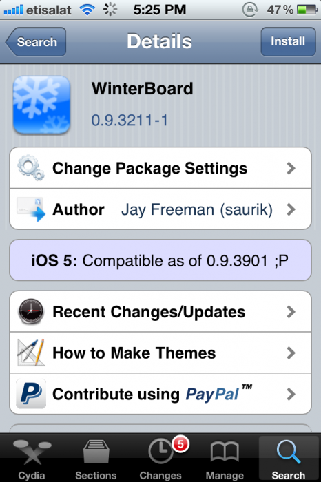 Winterboard for iOS5
