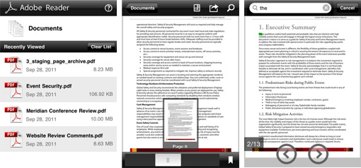 adobe reader ios - Adobe Reader est disponible pour iOS