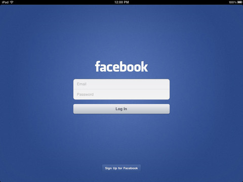 Utilisez l'application Facebook sur un iPad