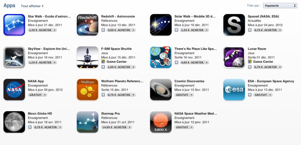 Dans lespace aper%C3%A7u - Dans l'Espace, la nouvelle rubrique de l'App Store !