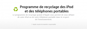 Recyclage Apple 300x101