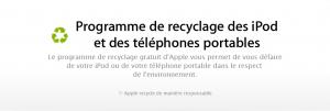 Recyclage Apple 300x101 - Qu'ils sont écolos chez Apple ! :)