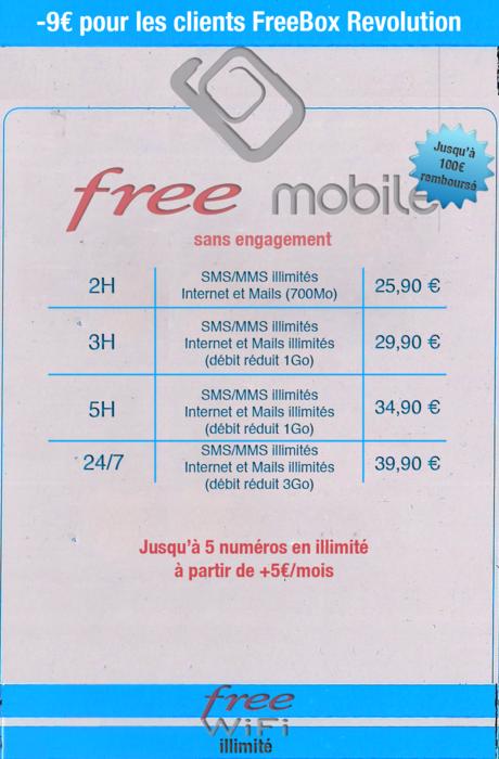 free mobil tarif - La grille tarifaire de Free Mobile a été révélée..?
