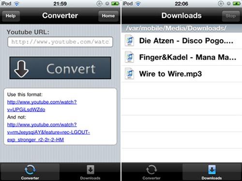 youtube to mp3 iPhone thumb - YoutubeToMp3 : Vidéos Youtube en fichiers audio