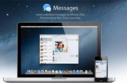 Messagesbeta - Apple dévoile Mac OS X 10.8 : Moutain Lion