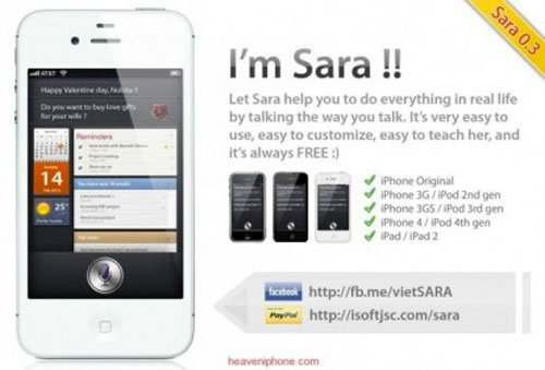 Sara : l'assistant vocal pour anciens iPhone, iPad, iPod Touch