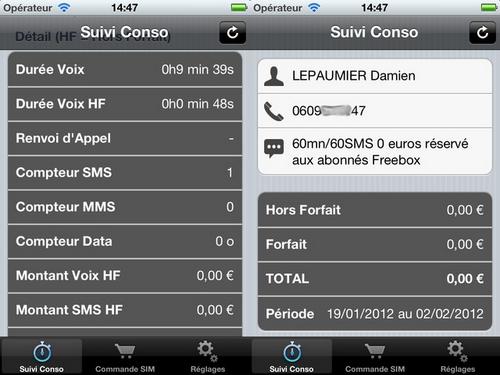 free conso - [FREE MOBILE] Suivre sa consommation via l'application non officielle