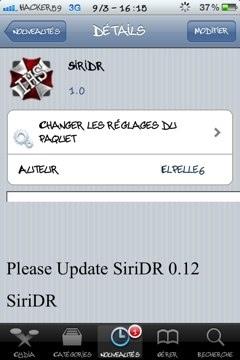 20120309 183704 - [TWEAK] SiriDR passe en Version 1.0