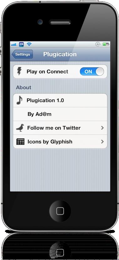 plugication - Cydia : Plugication, démarrer sa musique au branchement des écouteurs