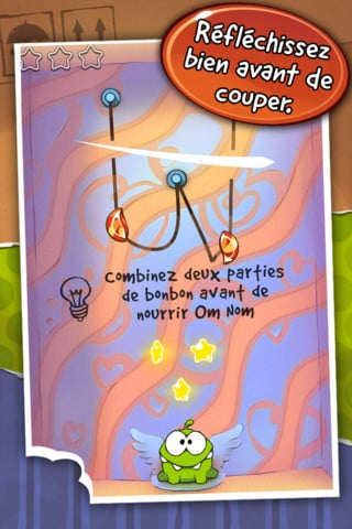 cuttherope 3 - L'application du samedi 28 avril 2012 est Cut The Rope