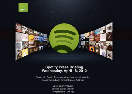 spotify to make a special announcement on april 18th - Spotify : une conf' de presse le 18 avril