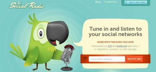 thesocialradio 500x232 - FAITES VOUS LIRE VOTRE TIMELINE TWITTER EN MUSIQUE SUR IPHONE