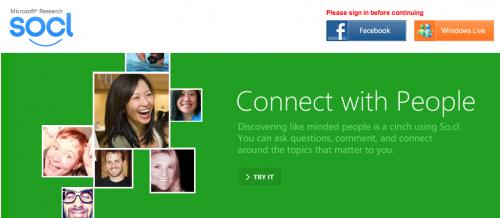 2012 05 28 11 06 32 500x218 - Après Facebook, Twitter, Google +; c'est au tour de « So.cl », de Microsoft