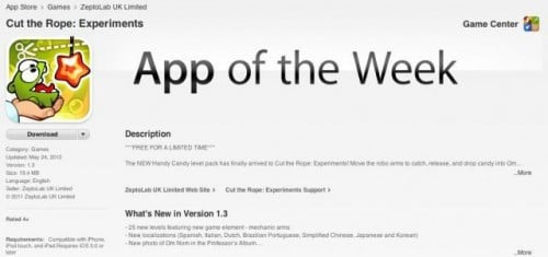 App Of The Week 500x235 - Apple lance discrètement Free App of the Week et Editor's Choice