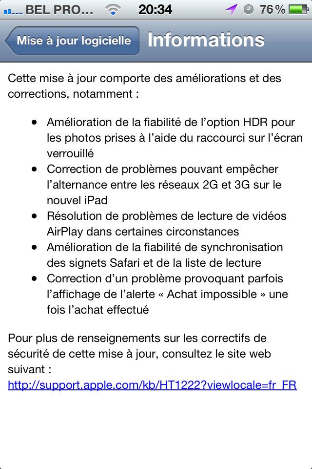 IMG 1021 - Mise à jour de l'iOS 5.1 vers 5.1.1 !