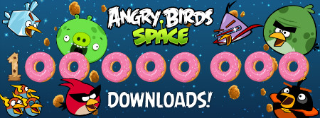 Angry Birds Space 2 - Angry Birds Space: 100 000 000 téléchargements !