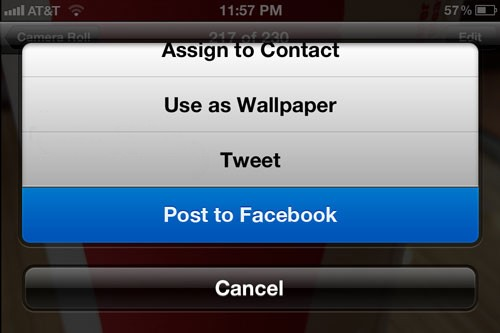 IMG 0673 - Plus de détails sur l'intégration de Facebook dans iOS 6