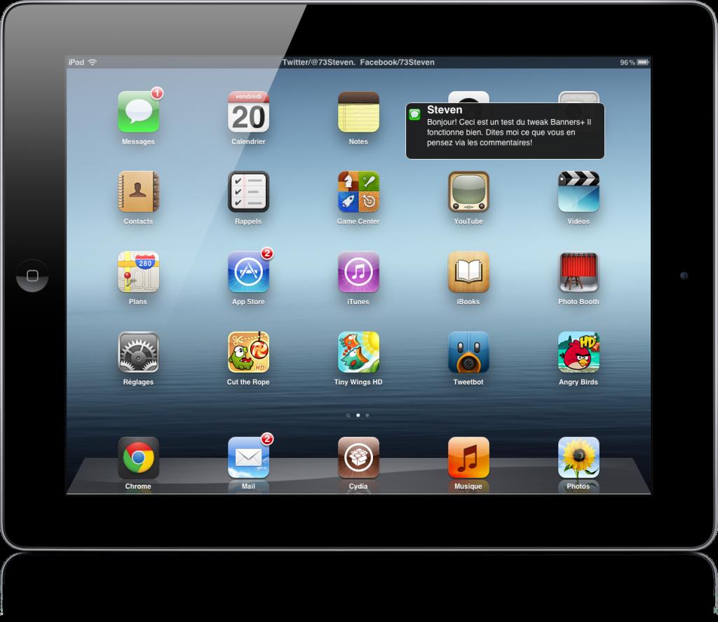 Banners+ : changer les bannières de notifications de l'iPad !