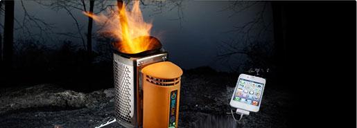 BioLite CampStove : recharger son iPhone avec un feu de bois