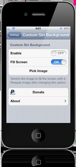 Custom Siri Background