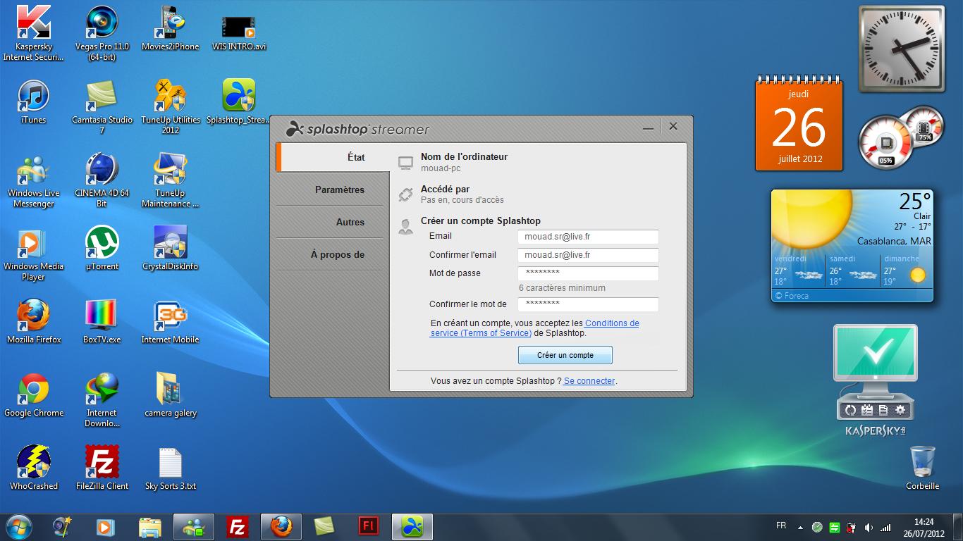 Splashtop Remote Desktop : contrôler son PC/MAC depuis son iDevice.
