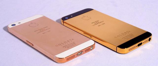 Un iPhone 5 de 24 carats pour 5000$ !