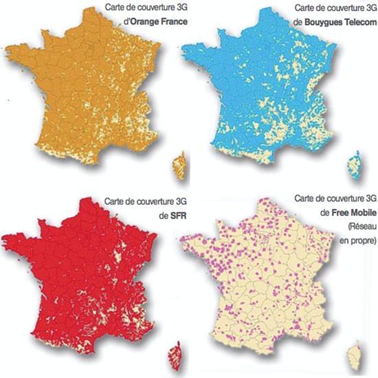 Couverture 3G en France : les chiffres 2012